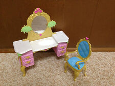 Barbie Doll The Island Princess Vanity Dresser Chair Castle Bedroom Furniture