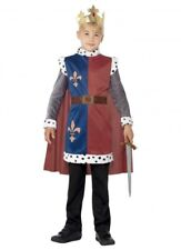 Smiffys Children's King Arthur Medieval Costume Tunic Cape & Crown Size Smal