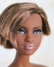 Pretty AA, African American Barbie Doll, Model Muse, Basics, Nude #V77