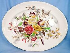 Johnson Brothers Garden Bouquet Platter Oval 14in Windsor Ware Transferware V
