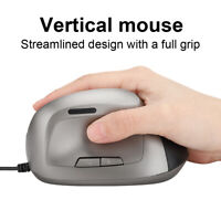 6D Vertical Mouse Wired Ergonomic 1200DPI USB Optical Mice For Laptop Computer