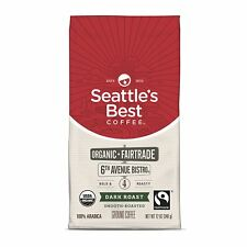 SEATTLE'S BEST COFFEE 6TH AVENUE BISTRO FAIR TRADE ORGANIC DARK ROAST 12OZ