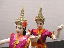 New ListingVintage Ethnic Thailand Traditional Dancing Male & Female Folk Dancing Dolls