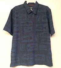 COVA Men's GOOD CATCH S/S Button Shirt - Medium - NVY - NWT - Reg $110