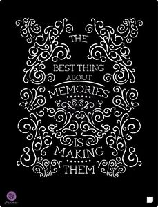 "Prima Marketing 9.5 x 12"" stencil, The Best Thing about Memories...#588168"