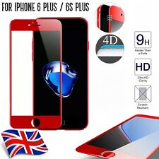 Red 4D Full Curved Edge To Edge 3D Tempered Glass For Apple iPhone 6 + / 6s Plus