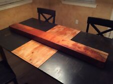 Solid Thick Wood Fireplace Mantel Shelf Beam Rustic Floating Mantle Walnut?