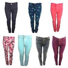 Ex Zara Girls Kids Skinny Cord Glitter Jeans Winter Christmas Trouser Age 4-14Y