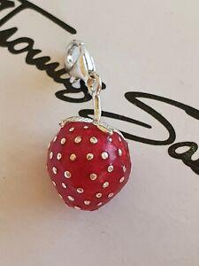 Thomas Sabo Erdbeere Charm Anhänger Bettelarmband Kette * TOP *