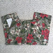 NWT Signatures Jeffrey Banks Floral Cropped Pants Womens Size L