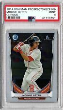 2014 Bowman Prospects Chrome #bcp109 Mookie Betts Boston Red Sox Rookie PSA 9