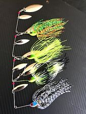 4x Spinnerbaits Colorado 1/2oz Spinner Baits Spinners Spoons Yellowbelly Cod 56
