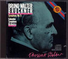 Bruno WALTER: BRUCKNER Symphony No.9 CBS CD Made in Japan Penguin Guide Rosette