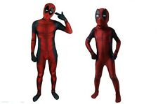 3D Adults Kids Deadpool Costume Cosplay Tights Clothing Mask Party Fancy Dress