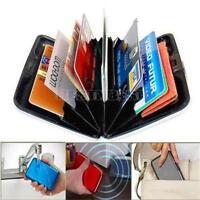 Boîte Rigide Boîtier Porte étui à Carte de Crédit/Visite Aluminium Portefeuille