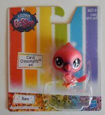 NEW Littlest Petshop LPS Hasbro Rare Cardi Crimsonglitz Red Bird #41 Toy