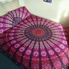 Indian Hippie Mandala Duvet Cover Reversible Queen Quilt Cover Decor bedding set