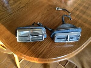 1969-70 Shelby & 69 Cougar Original/Used Pair Parking Lamp Assembly