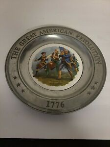 THE GREAT AMERICAN REVOLUTION 76' CANTON OHIO PEWTER PLATE~THE SPIRIT OF '76