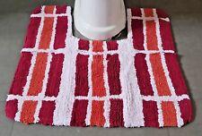 Orange & bande rouge salle de bain piédestal Tapis 100% Coton Anti - dérapant