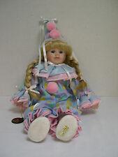 Brinn's 1993 Jelly Bean Clown Brinn's Collector Blue and Pink Jumpsuit