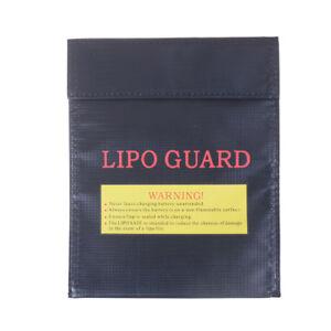 Black Fireproof RC LiPo Battery Safety Bag Guard Charge Bag Sack 180*230mm.jk