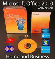 Microsoft Office Home and Business 2010 Vollversion Englisch Box, DVD + SP1 NEU