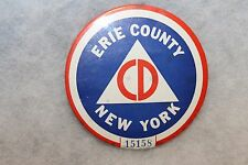Cold War U.S. Civil Defense Erie County, New York State Members Numbered Button