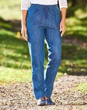 "Ladies Comfort Fit Girls Jeans-L26"" INDIGO/Mid Wash - UK Plus Size 36 - B63"