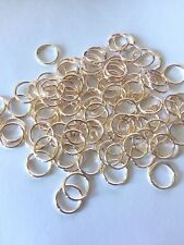 8 mm  Rose Gold plated JUMP RINGS FINDING DIY JEWELLERY 100 PK - AUSSIE SELLER!