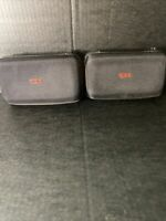 Lot Of 2 TUMI black HARD case Delta Airlines Toiletry Amenity Bag Kit CASE ONLY