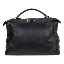 Fendi Bag Peekaboo Black Calfskin Large Satchel 0adea11e29f6f