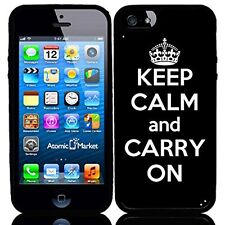 Black Keep Calm and Carry On For Iphone 6 Case Cover