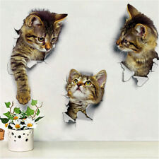 Cute Cat Wall Sticker For Living Room Bedroom Cupboard Toilet Decora EBTY