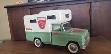 Vintage 1960s Tonka Toys Light Green Pickup Truck Camper