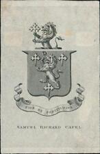 Samuel Richard Capel. Bookplate.   QR94