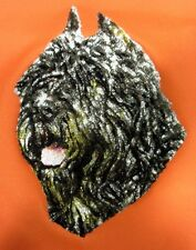 Large Embroidered Zippered Tote - Bouvier des Flandres Dle1491