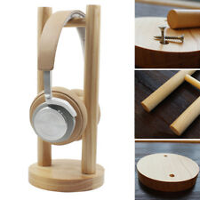 US Universal Wooden Earphone Headset Hanger Holder Headphone Desk Display Stand