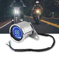 Universal Contachilometri LED Digitale Tachimetro Contagiri Cromo Per Moto Set