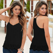 Women Summer Lace Vest Top Sleeveless Blouse Casual Tank Tops T-Shirt