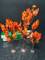 Dept 56 Village Autumn Fall Maple Trees Set of 3 NEW Village Accessory 810845