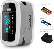 AccuMed CMS-50D1 Fingertip Pulse Oximeter Finger Pulse SpO2 Monitor White