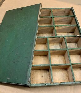 Antique Wooden Small Parts Bin