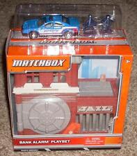 New! Matchbox Car Bank Alarm Playset with Police Car Mint