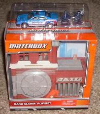 New! Matchbox Car Bank Alarm Playset with Police Car Mint