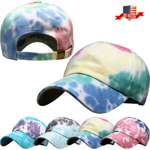 Tie Dye Baseball Cap Adjustable Dad Hat Tiedye Ballcap