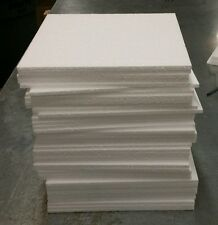 "48pc 12""x12""x1/4"" Styrofoam Polystyrene Flats Sheets Wedding Party Art Craft EPS"