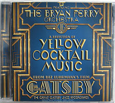 ROXY MUSIC The Bryan Ferry Orchestra CD The Great Gatsby Yellow Coctail Music