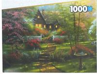 Dogwood Cottage 1,000 PC JIGSAW PUZZLE With Keepsake Box - Brand New