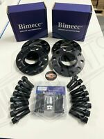 BMW Alloy Wheel Spacers 2x12mm + 2x15mm Black Bolts Locks M5 F10 F80 M3 M4 M2